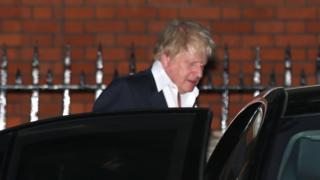 Boris Johnson leaving
