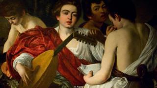 """""""Los músicos"""" (1595) de Michelangelo Merisi da Caravaggio."""