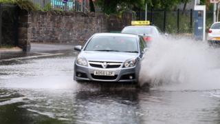 Localised flooding in Belfast on Friday