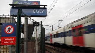 Egly station south of Paris where Oceane took her own life