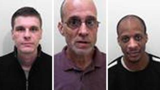 Three men: Wayne Maycock, Paul Bromwich and Admi Headley