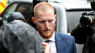 Ben Stokes arriving at court