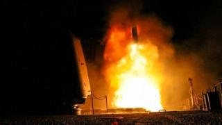 Tomahawk fired from USS Monterey