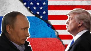 ABD Başkanı Donald Trump ve Putin kolajı