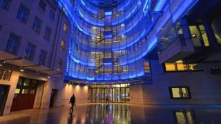 Prédio da BBC na região central de Londres