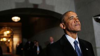 Barack Obama, en el día de la toma de posesión de Donald Trump como presidente.