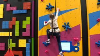 Climbing wall at Cwmbran Stadium