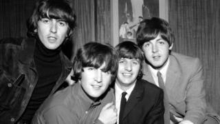 Imagen de los cuatro integrantes de los Beatles.