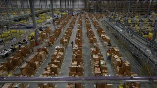 An Amazon warehouse in Hemel Hempstead