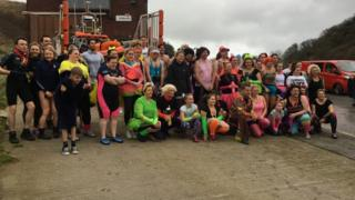 Annual Boxing Day dip in Flamborough