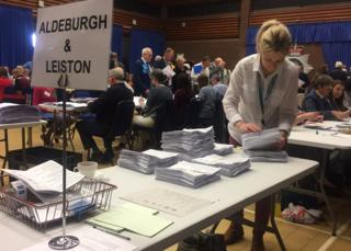 Election counting in Martlesham