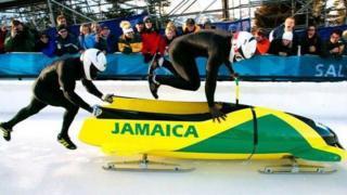 The Jamaican bobsleigh team
