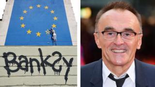Banksy artwork and Danny Boyle
