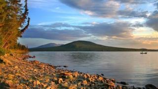 Lake Sladkoye, on Kazakh-Russian border