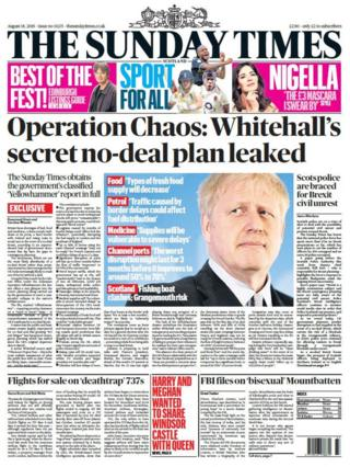 Scotland's papers: 'Operation chaos' for no-deal and Ibiza hotel fall
