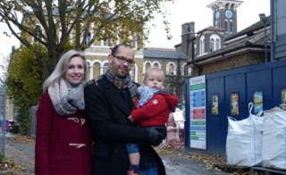Evans family outside St Clements