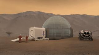Design de uma casa em Marte