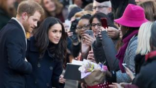 Príncipe Harry y Meghan Markle en Nottingham.
