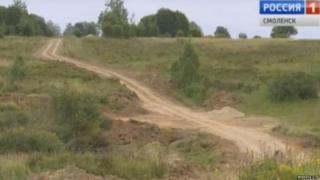 Russian road upgraded by smugglers, Smolensk Region
