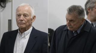 Pedro Muller (left) and Hector Sibilla in court in Buenos Aires. Photo: 11 December 2018