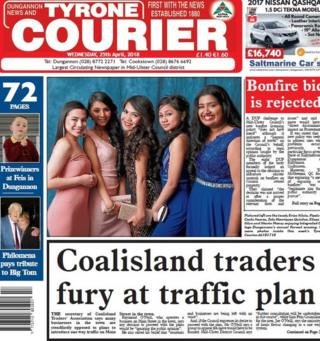 Tyrone Courier front page