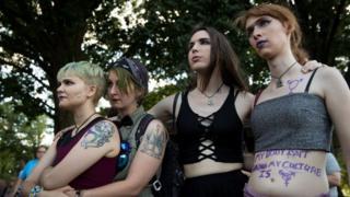 Трансгендеры на демонстрации в Вашингтоне