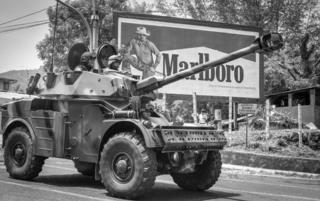 San Salvador, 15 de Septiembre 1991. Desfile militar