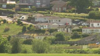 Knowle Sands caravan park in Bridgnorth