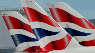 Đuôi xe của British Airways