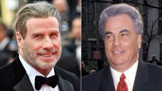 John Travolta and John Getty, pictured in 1990