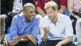 Ex-President Obama and Prince Harry at the Invictus games in Canada in September, 29 September 2017
