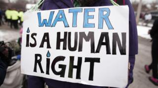 Water protests in Flint, Michigan