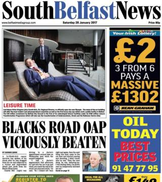 South Belfast News front page Friday 27th Nov