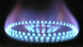 Gás de cozinha queimando