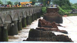 Damaged bridge