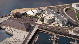 Artist's impression of the maritime centre from above