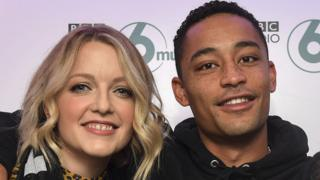 Lauren Laverne with Loyle Carner