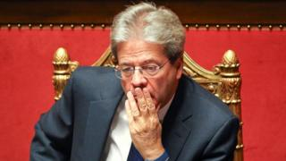 Newly appointed Italian Prime Minister Paolo Gentiloni looks on before a confidence vote at the Senate in Rome, Italy December 14, 2016