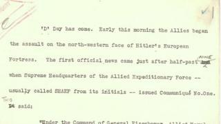 Script from D-Day news bulletin