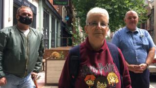 Wind Street residents Stuart Fender, Ann Allen and Stan Robinson