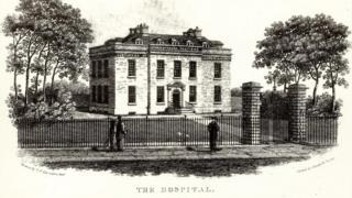 Addenbrooke's Hospital, Trumpington Street c. 1810