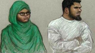In the dock: Rowaida El-Hassan and Munir Mohammed