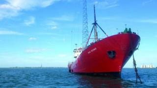 Radio Caroline's ship the Ross Revenge.