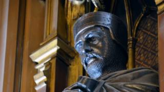 William Marshal's effigy on his statue in the House of Lords