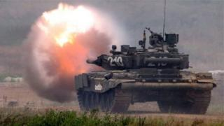 Russia has intensified combat drills for its armed forces - despite the expense