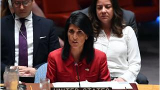 نيكي هايلي سفيرة الولايات المتحدة الأمريكية لدى الأمم المتحدة