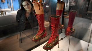 Frida Kahlo's prosthetic leg