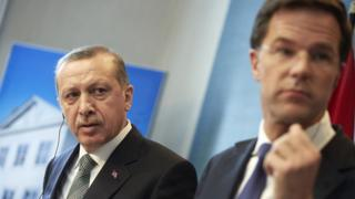 Cumhurbaşkanı Recep Tayyip Erdoğan ve Hollanda Başbakanı Mark Rutte