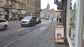 Sandwich board in Edinburgh Pic: Darren McCullins