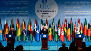 او آئی سی استنبول اردوعان ترکی فلسطین القدس یروشلم ٹرمپ